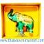 ของพรีเมี่ยม ของที่ระลึกไทย ช้าง แบบ 8 Size S สีเขียวทอง thumbnail 4