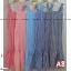 F10105 Maxi Dress ลายสก๊อต สีแดง แต่งชายระบาย เพิ่มกระเป๋าข้าง ใส่ยางหลังที่อก thumbnail 3
