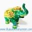 ของพรีเมี่ยม ของที่ระลึกไทย ช้าง แบบ 8 Size S สีเขียวทอง thumbnail 2