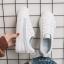 YUANBO รองเท้าผ้าใบหนังนิ่มสีขาวคาดสีฟ้า ได้เชือก 2 คู่(สีขาว+สีฟ้า) thumbnail 12