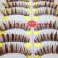 V-K19 ขนตาปลอม สีน้ำตาล (ขายปลีก) เเพ็คละ 10 คู่ ขายยกเเพ็ค thumbnail 1
