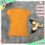 F13350 เสื้อ ป้ายหน้าแขนสั้น สีส้มอิฐ thumbnail 1