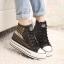 รองเท้าผ้าใบแฟชั่นผู้หญิง สูง 5 ซม. ขนาด 35-39 (พรีออเดอร์) thumbnail 1