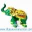 ของพรีเมี่ยม ของที่ระลึกไทย ช้าง แบบ 8 Size S สีเขียวทอง thumbnail 1