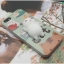 iPhone 7 - เคส TPU หลังนุ่มนิ่ม 3D ลายแมวขาว พื้นหลังเขียว thumbnail 10