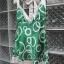 เสื้อแฟชั่นสีเขียวลายวงกลม สายเดี่ยว ผ้ามันลื่น นิ่ม สวยดูดี ผูกโบว์ที่ต้นคอด้านหลัง Made in USA thumbnail 2