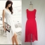 (สีแดง)ชุดเดรสแซกสั้นแฟชั่นเกาหลี หน้าสั้นหลังยาว ผ้าชีฟอง คอกลม แขนกุด เอวยางยืด มีซับใน (ใหม่ พร้อมส่ง) ร้าน Ladyshop4u thumbnail 1