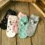 Cats socks ถุงเท้าลายแมว (3 คู่ 100 บาท) thumbnail 1