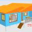 CD01 บ้านตัวอย่าง 11*6.5 เมตร 4 ห้องนอน 3 ห้องน้ำ 1 ห้องนั่งเล่น 1 ห้องครัว 768,000 บาท เพิ่มระเบียงหลังคาคลุม 2*4 ราคา 68,000 รวม 835,000 บาท thumbnail 1