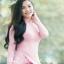 ชุดเวียดนามผู้หญิง สีชมพูอ่อน (งานสั่งตัดพิเศษ) thumbnail 5