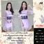 F11605 Dress 2 Pices ผ้าชีฟองแขนสั้น สีชมพู thumbnail 1