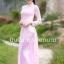 ชุดเวียดนามผู้หญิง สีชมพูอ่อน (งานสั่งตัดพิเศษ) thumbnail 3