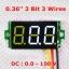 """ดิจิตอล โวลต์มิเตอร์ 0 ถึง100 โวลต์ จอขนาด 0.36"""" สีขาว Mini 3 Digital 0.36'' LED DC 0 ถึง 100 V Volt Voltage Meter Valtmeter 3-28V Power Supply thumbnail 2"""