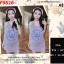 F9826 Dress เดรสกระโปรงกล้าม พิมพ์ลาย KENZO Paris มีผ้าผูกผม เข้าุชุด สีชมพู thumbnail 1