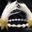 MAI16 มงกุฎขนนกขาว ผี้เสื้อทอง (งาน handmade)**สินค้ามีจำกัด** thumbnail 9