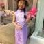 ชุดเวียดนามเด็กหญิง ผ้าแพรไหม (แขนกุด) thumbnail 2