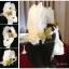 MAI16 มงกุฎขนนกขาว ผี้เสื้อทอง (งาน handmade)**สินค้ามีจำกัด** thumbnail 1