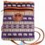 ของฝากจากไทย กระเป๋าสะพายลายช้างสายหนัง แบบ 31 สีม่วง thumbnail 1