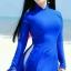 ชุดเวียดนามผู้หญิง สีน้ำเงิน (งานสั่งตัดพิเศษ) thumbnail 1