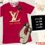 F10220 เสื้อยืด คอกลม สีชมพูเข้ม งานปัก ลาย LV (หลุยส์) thumbnail 1