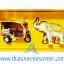 ของพรีเมี่ยม ของที่ระลึกไทย ช้าง vs รถตุ๊กตุ๊ก แบบ 12 Size S สีเงินทอง thumbnail 3