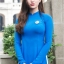 ชุดเวียดนามผู้หญิง สีน้ำเงิน (งานสั่งตัดพิเศษ) thumbnail 2