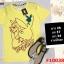 F10038 เสื้อยืด แขนสั้น สกรีนลาย กระต่าย PLAY BOY(งานปักอก) สีเหลือง thumbnail 1