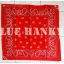 ผ้าพันคอBandannasไซส์บิ๊ก 28นิ้ว สีแดง thumbnail 2