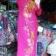 ชุดเวียดนามหญิง ลายดอกโบตั๋น (ส่งฟรี EMS) thumbnail 4