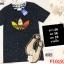 F10197 เสื้อยืดคอกลม แขนสั้น ปักลาย ADIDAS สีกรม thumbnail 1