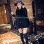 9807 เสื้อคลุมทรงค้างคาว สีดำ thumbnail 3