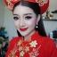 ชุดเวียดนามหญิงชั้นสูง ลายหงส์คู่มังกร (สีแดง) thumbnail 1