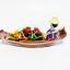 ของขวัญไทย งานปั้นดินไทย เรือแจวขายผลไม้ S thumbnail 1
