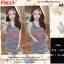 F9827 Dress เดรสกระโปรงกล้าม พิมพ์ลาย KENZO Paris มีผ้าผูกผม เข้าุชุด สีดำ thumbnail 1