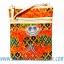ของฝากจากไทย กระเป๋าสะพายลายช้างผ้าถุงสายหนัง แบบ 2 สีส้ม thumbnail 1