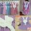 F10111 เดรส ลายสก๊อต สีชมพู แต่งโบว์ สีขาวอันใหญ่ (ใส่ได้ 2 แบบ) thumbnail 3