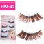 HW-42# ขนตาปลอมสีน้ำตาล (ขายปลีก) เเพ็คละ 5 คู่ thumbnail 4