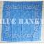 ผ้าพันคอBandannasไซส์บิ๊ก 28นิ้ว สีฟ้า thumbnail 2