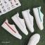 YUANBO รองเท้าผ้าใบหนังนิ่มสีขาวคาดสีฟ้า ได้เชือก 2 คู่(สีขาว+สีฟ้า) thumbnail 8