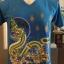 เสื้อยืดคอวี ลายพญานาค (เสื้อสีฟ้าเข้ม)