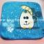 ผ้าขนหนูสีน้ำเงินลายแมวเหมียว thumbnail 1