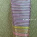 ผ้าถุงไหมสำเร็จรูป สีชมพู เนื้อดี สวยมาก เอว34นิ้วเลื่อนได้ถึง36นิ้ว