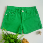 กางเกงขาสั้นแฟชั่นสุภาพสตรี สีสันสดใส ใส่ชิลๆ ได้ทุกวัน สีสันจัดจ้านโดนทุกวัย SET3 - เขียว