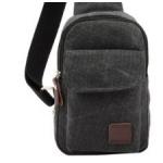 กระเป๋าเป้สะพายข้างสำหรับหนุ่มๆ ดีไซน์เท่ห์ๆ ขนาดกำลังดี - เทาเข้ม