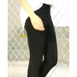 กางเกงยีนส์ขาเดฟ เข้ารูป ผ้านิ่ม ใส่สบายๆ ให้ความคล่องตัวสูง - ดำ