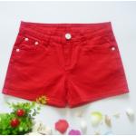 กางเกงขาสั้นแฟชั่นสุภาพสตรี สีสันสดใส ใส่ชิลๆ ได้ทุกวัน สีสันจัดจ้านโดนทุกวัย SET3 - แดง