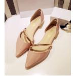 รองเท้าสุภาพสตรีทรงเก๋ๆ หนังมันวาวสีสวย มีนส้นเล็กๆ ให้สาวๆ ได้ใส่สบายๆ เดินช็อปแบบชิลๆ - ชมพู 39