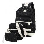 กระเป๋าเป้แฟชั่น ซื้อ 1 ได้ถึง 3 กับสีสันโดนใจ - ดำ