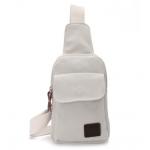 กระเป๋าเป้ใบกำลังดี จะสะพายข้างหรือสะพายหน้า ก็เท่ห์ไปอีกแบบ - ขาว