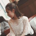 เสื้อลูกไม้แฟชั่นสวยๆ ใส่วัยไหนก็สวย มี 3 สีให้เลือกใส่ตามโอกาส - ขาว